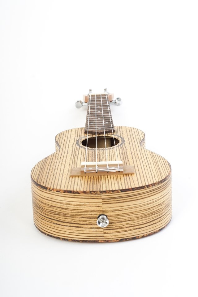 Image of Zebrano wood Soprano Ukulele (includes bag)