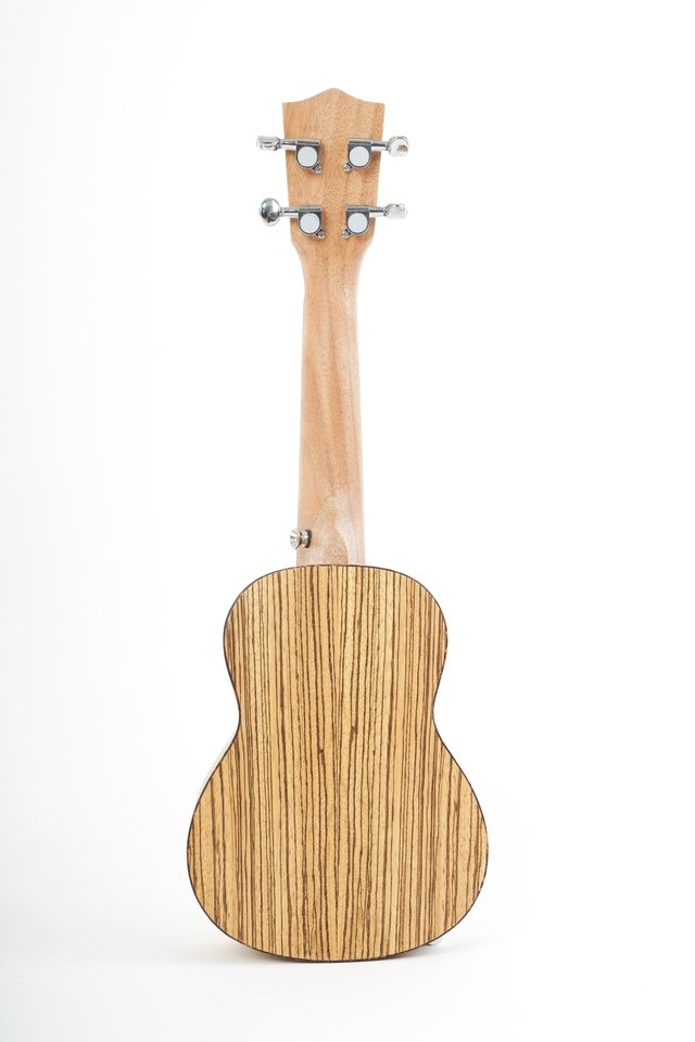Zebrano wood Soprano Ukulele (includes bag) - BAMBOO • Shop Online