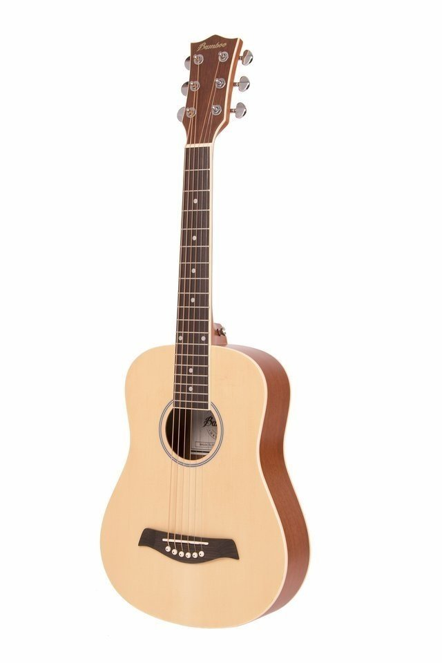 Guitarra Mini Acústica Natural c/eq (incluye funda acolchada) - comprar online