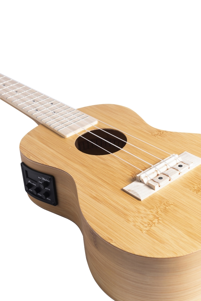 Image of Bamboo wood Ukulele Concert w/eq