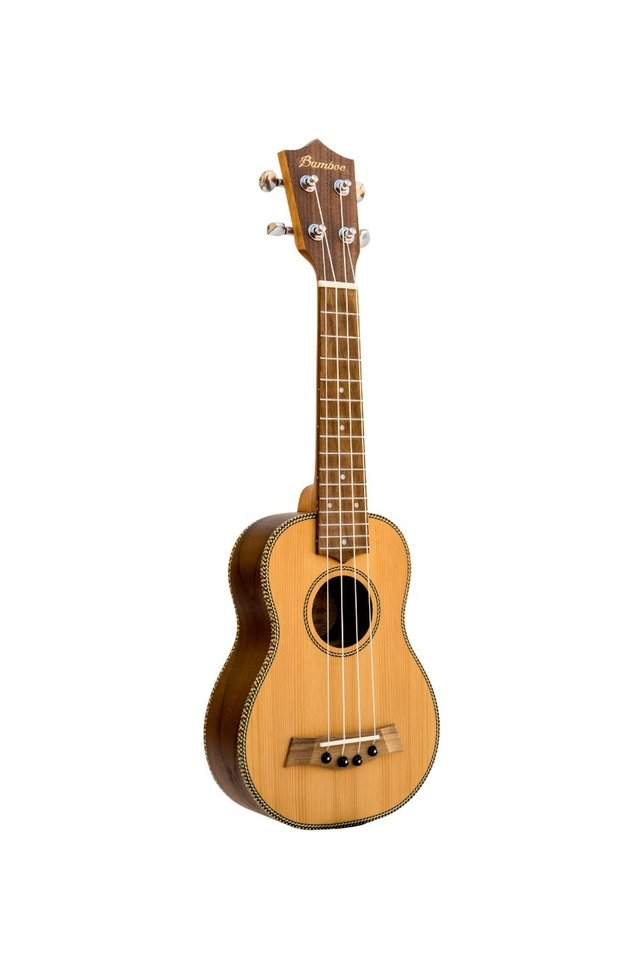 Solid Cedar wood Soprano Ukulele (Includes bag)