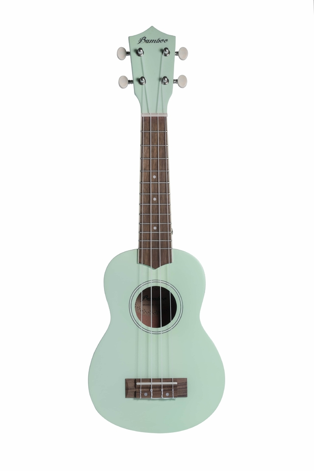 Soprano Ukulele Light Green Mahogany wood - buy online