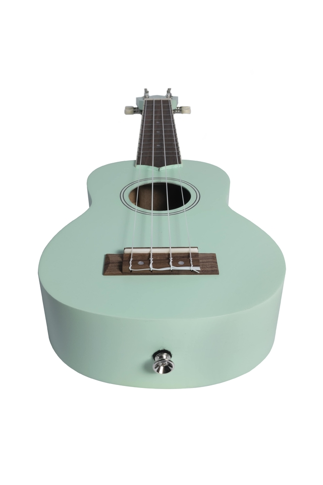Soprano Ukulele Light Green Mahogany wood - BAMBOO • Shop Online