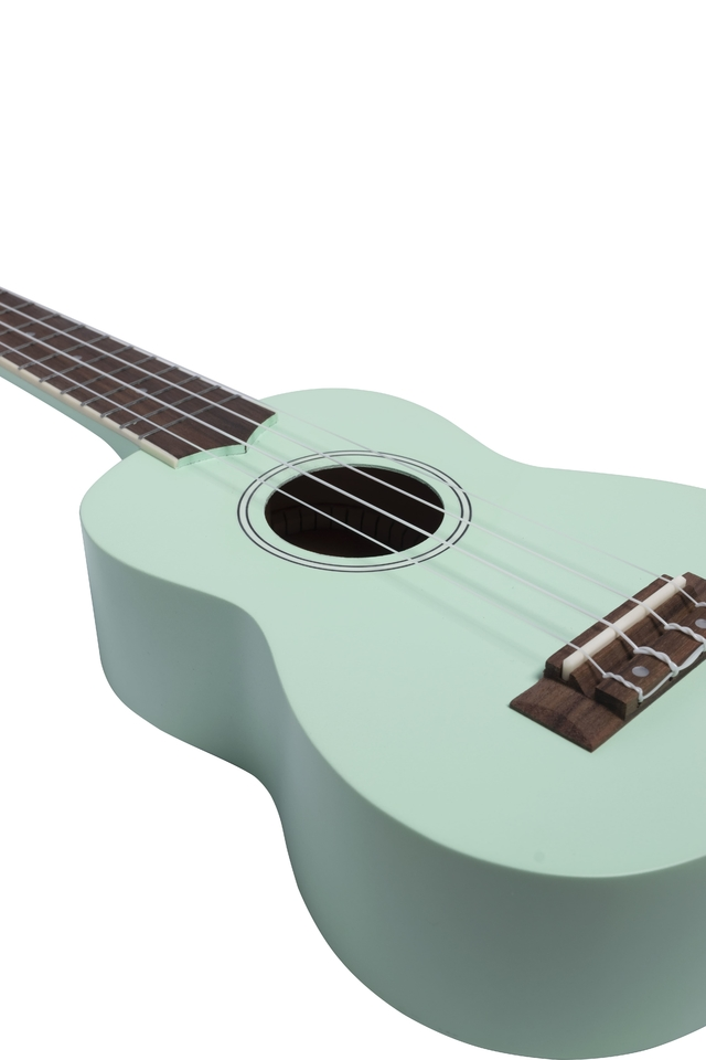 Image of Soprano Ukulele Light Green Mahogany wood