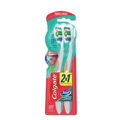 Colgate Cepillo Dental 360 Suave 2x1