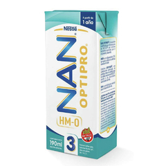 Nan 3 Leche Optipro 1 Año x 190 ml