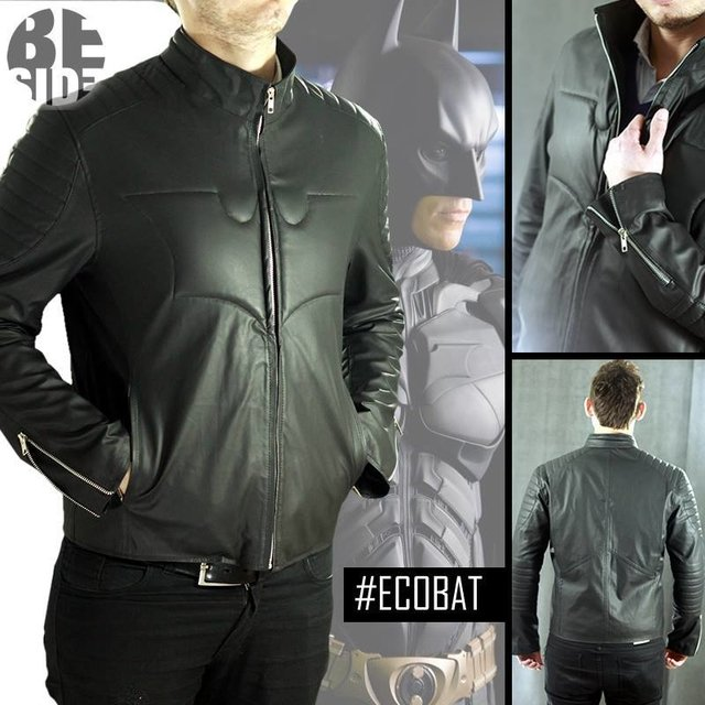 Campera Eco Cuero de Batman