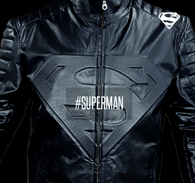 Campera de cuero Superman