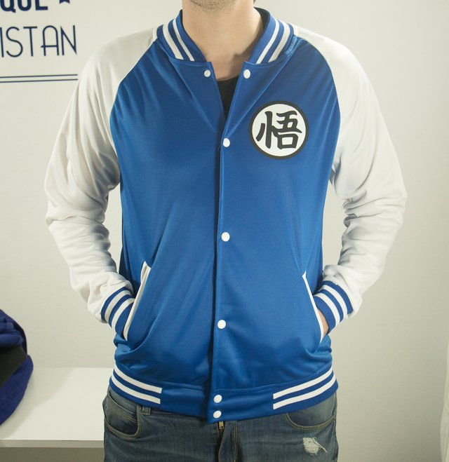 Campera universitaria Dragon Ball Edition Blue - comprar online