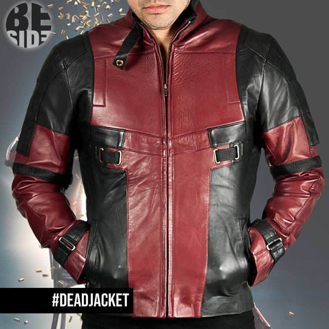 Campera de cuero Deadpool Deluxe