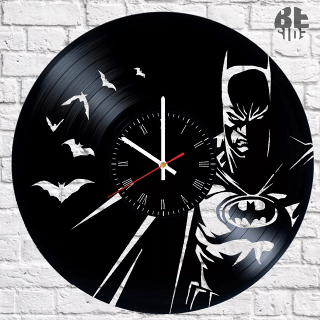 Reloj de vinilo Batman Dark, DC Comics