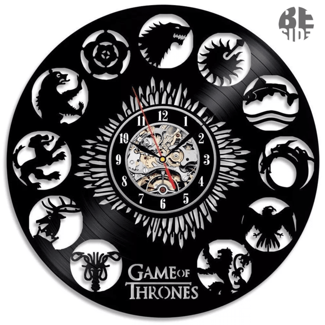 Reloj de Vinilo Game Of Thrones Casas