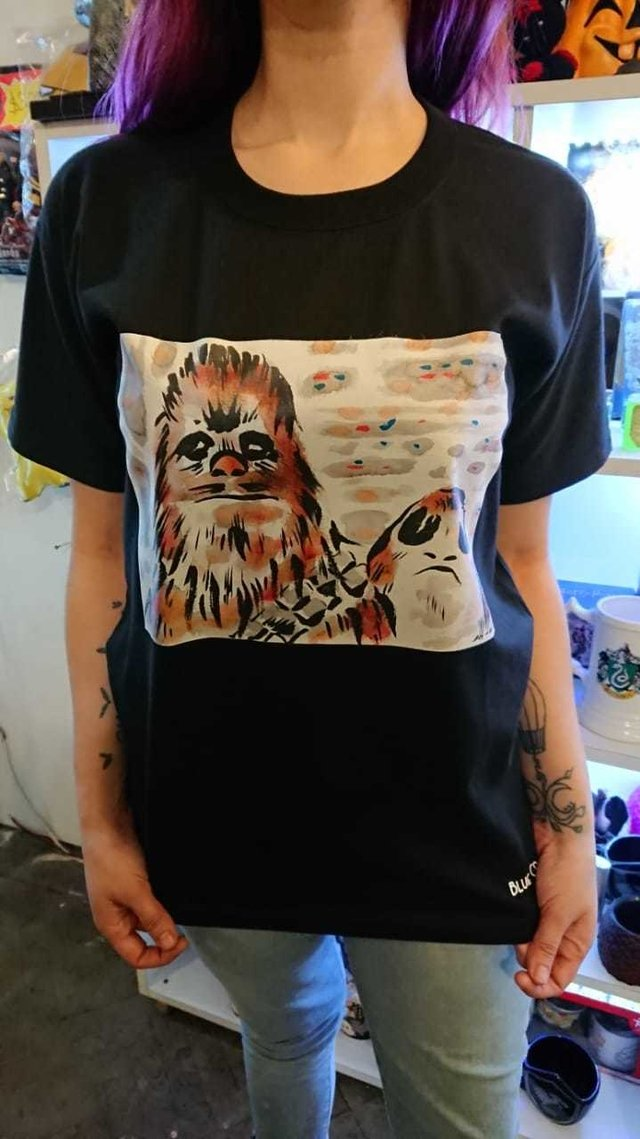 Remera Chewie y Porg - Star Wars