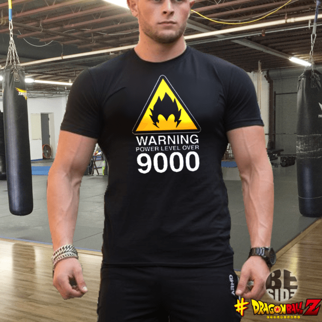 Remera Over 9000 Gym Dragon Ball