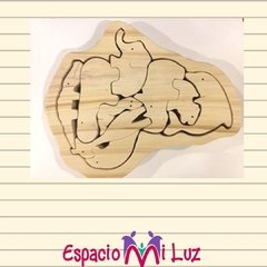 Puzzle Africa 100% Madera