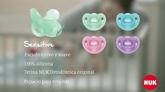CHUPETE NUK SENSITIVE 0/6 M ROSA en internet