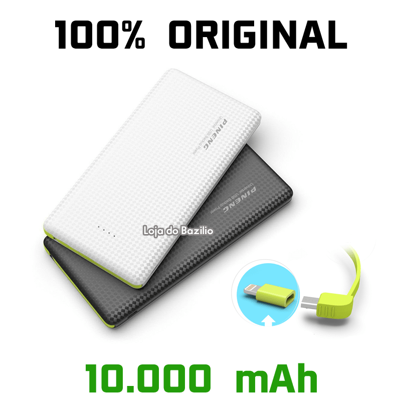c467482b2 Bateria Portátil Power Bank 10000mAh para Samsung iPhone Motorola