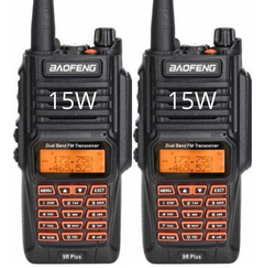 Kit X2 Handy Baofeng Uv9r Plus 15w Uhf Vhf Ip67 8000mah 2019
