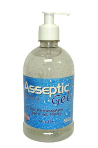 ÁLCOOL GEL 70% PUMP 500ML ASSEPSIA MEGA