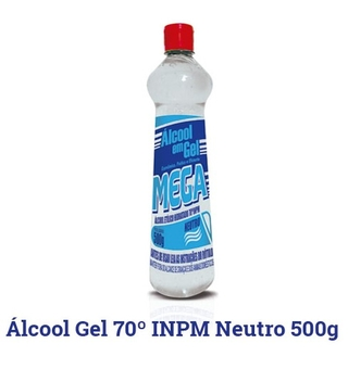 ÁLCOOL GEL 70% NEUTRO 500ML MEGA