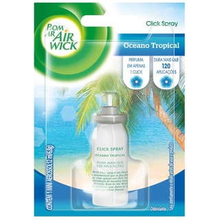 BOM AR CLICK SPRAY REFIL OCEANO TROPICAL 12ML AIR WICK