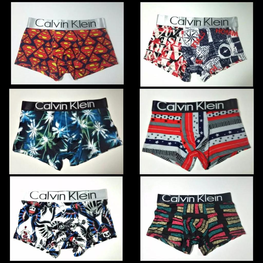 fa717d2a3e86f3 Cueca Calvin Klein Estampadas Variadas - Lote Com 05 Peças