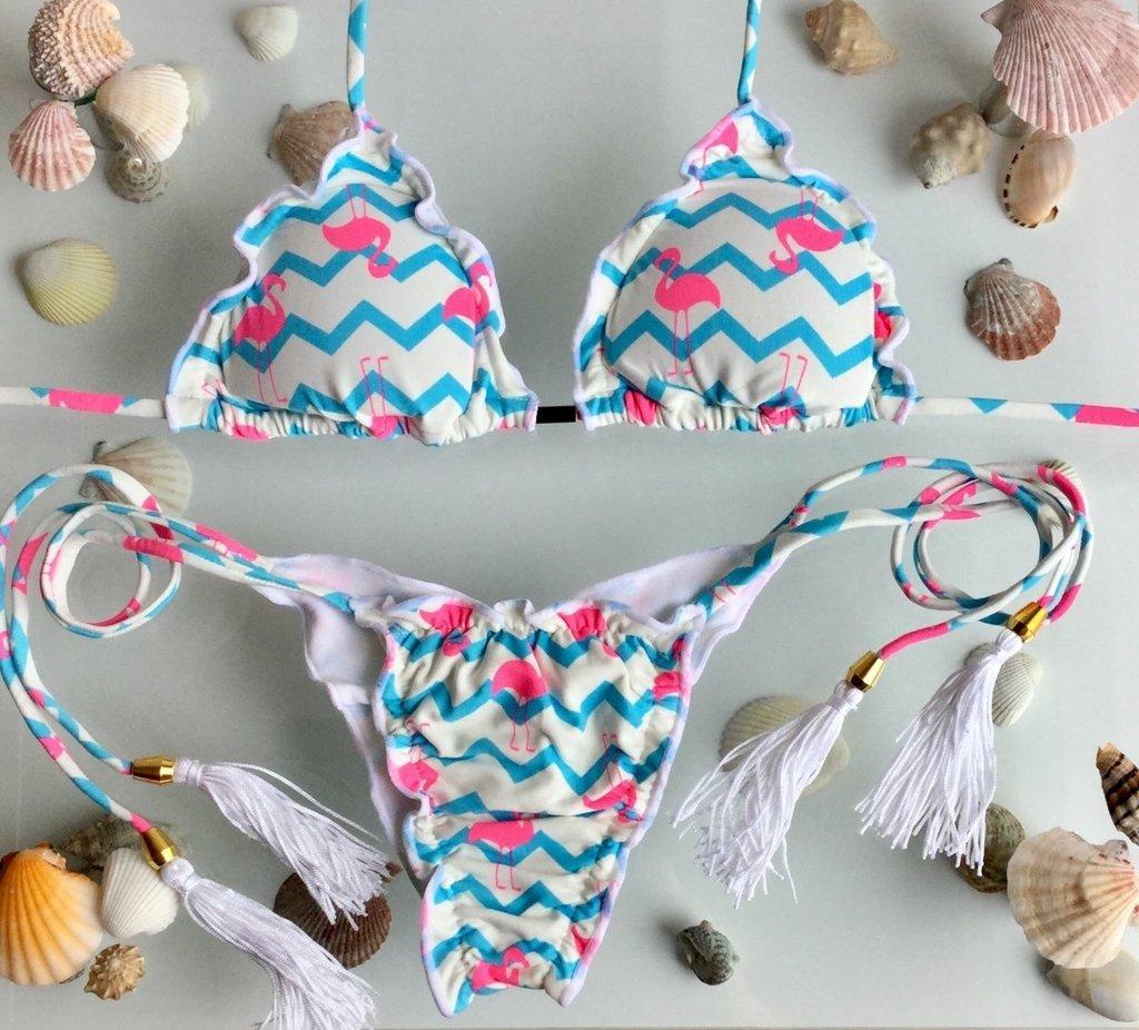 6a80cca751b6 Biquini Ripple Flamingo Azul - Comprar em D' La Bella