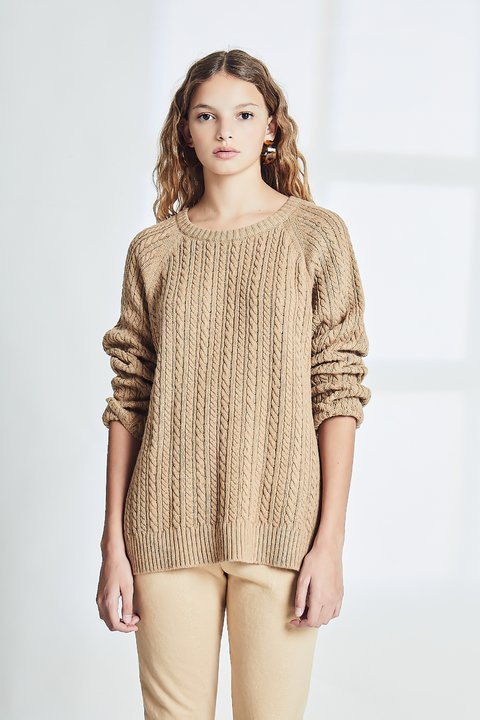 SWEATER QUANTS CAMEL