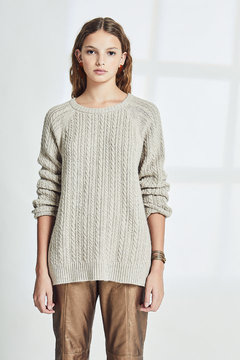 SWEATER QUANTS NATURAL