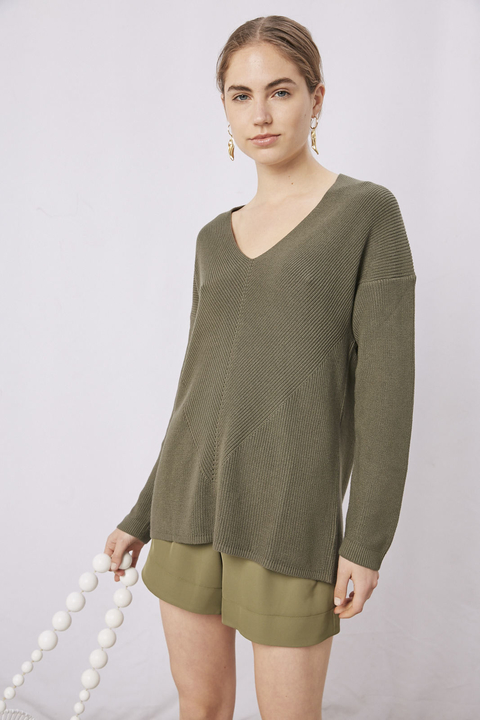 SWEATER ROSE VERDE
