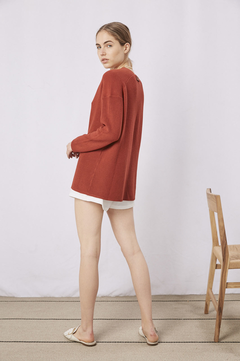 SWEATER ROSE LADRILLO - Oklan