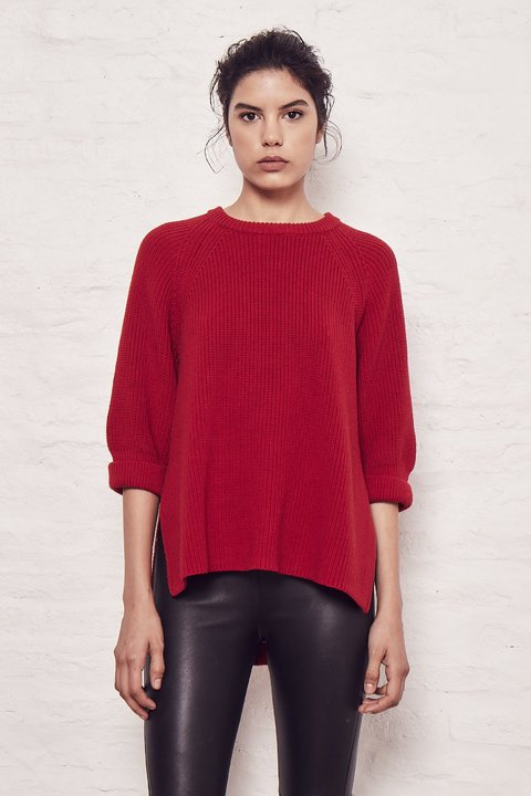 SWEATER SIMON ROJO - Oklan