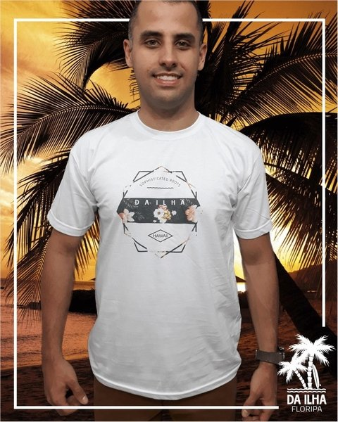 Camiseta Forms Of Nature Da Ilha Floripa Branca