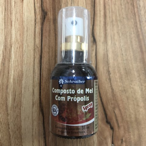 SPRAY COMPOSTO DE MEL COM PROPOLIS 35ML SCHRAIBER