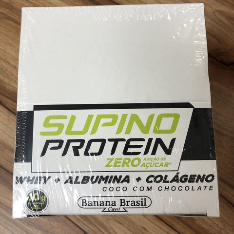 BARRA SUPINO PROTEIN COCO E CHOCOLATE 24UNX30G (CAIXA/DISPLAY)