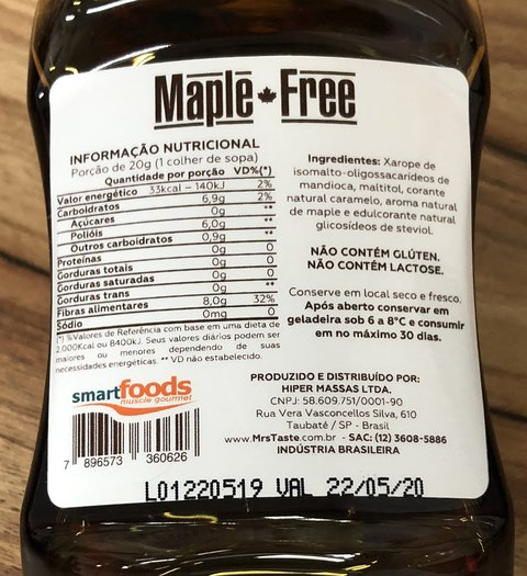 MAPLE FREE | 280G | MRS TASTE - comprar online