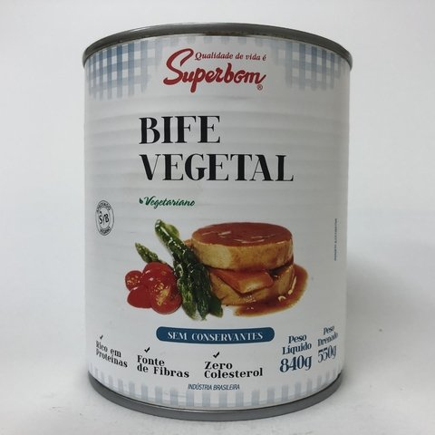 BIFE VEGETAL | 840G | SUPERBOM