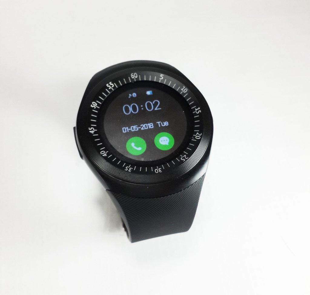 08a3a3152cb Relógio Celular E-watch Inteligente Bluetooth Chip Redondo