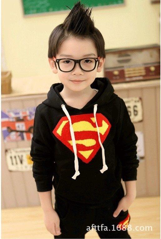 9a16e4d1e7 Conjunto Moletom Infantil Super Heroi Capuz Preto Menino