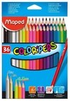 Lapices De Colores Maped  Color Peps Maped X36 Largos