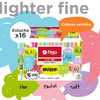 RESALTADORES FILGO LIGHTER FINE  SET 16 COLORES SURTIDOS