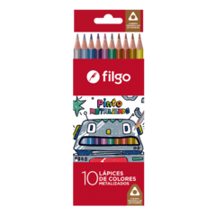 LAPICES DE COLORES METALIZADOS FILGO X10