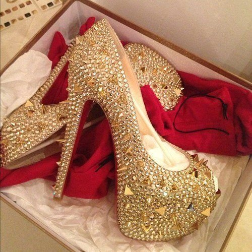 Peep Toe Diamond  - Christian Louboutin Inspired - nº 38