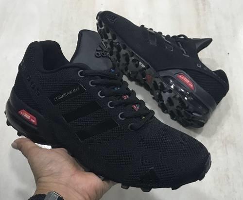 d1478fe533d47 Tenis Zapatillas adidas Cosmic Air Max Negro Blanca Hombre