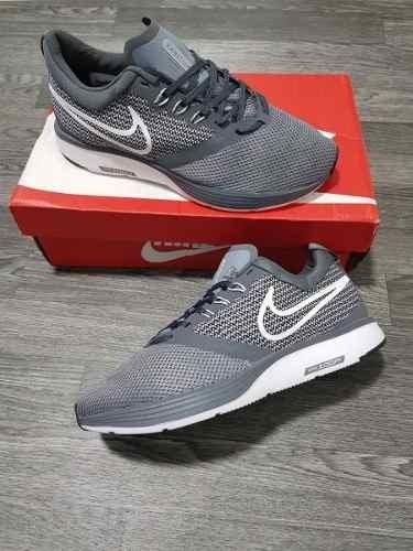 Tenis Zapatillas Nike Zoom Strike Gris Blanca Hombre Env Gr 7adb798146c
