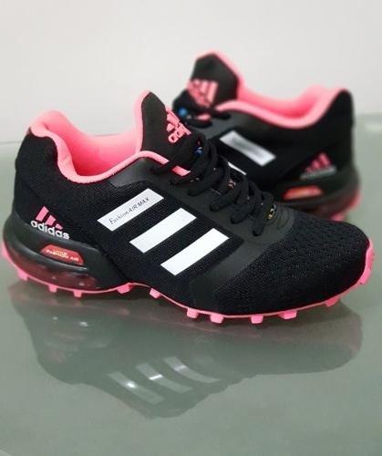 66ae7f7e796 Tenis Zapatillas adidas Fashion Air Max Negra Rosada Mujer