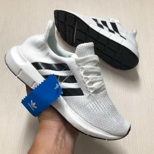 7d1a0ddb604 Tenis Zapatillas adidas Swift Run Blanca Negra Mujer Env Gr