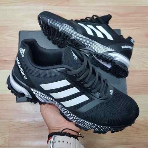 Tenis Zapatillas adidas Marathon Negra Blanca Hombre Env Gr 47cd435699b