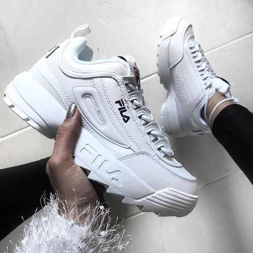 2bc08e43cce Tenis Zapatillas Fila Disruptor Low Blanca Mujer Envio Grat