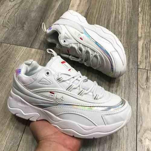 a36f2ef213a Tenis Zapatillas Fila Disruptor 2018 Blanca Mujer
